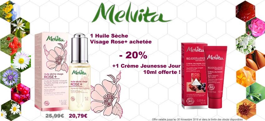 Melvita Huile Sèche Visage Rose+