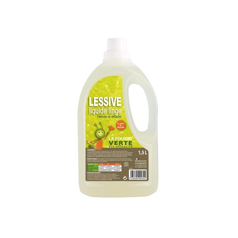 lessive liquide linge la fourmi verte soin du linge. Black Bedroom Furniture Sets. Home Design Ideas