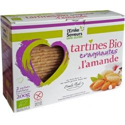 Tartines Bio Craquantes à l'Amande