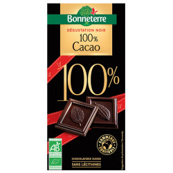 CHOCOLAT DEGUSTATION Noir 100% Cacao