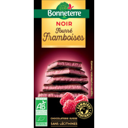 CHOCOLAT NOIR Fourré Framboises