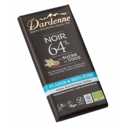 CHOCOLAT NOIR 64% Sucre de Coco