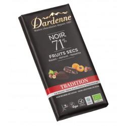 CHOCOLAT NOIR 71% Fruits Secs