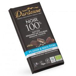 CHOCOLAT NOIR 100% Dattes Graines de Courge Sésame